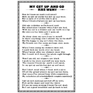 Ulster Weavers My Get Up and Go Linen Tea Towel:Eventmanager