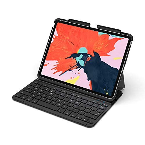 Arteck iPad Pro 11 inch Keyboard, Ultra-Thin Bluetooth Keyboard with Folio Full Protection Case for Apple iPad Pro 11-inch (2018)