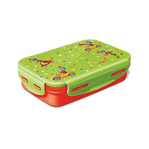 Milton Steely Deluxe Mini Inner Steel Kids Tiffin Box, Orange Grey