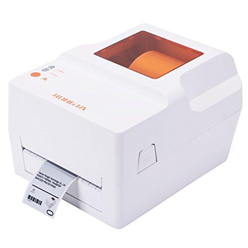 Rongta RP400H Imprimante thermique directe d'étiquettes de bureau de 203 DPI avec l'interface USB parallèle parallèle de série pour Windows XP Vista avec la vitesse élevée