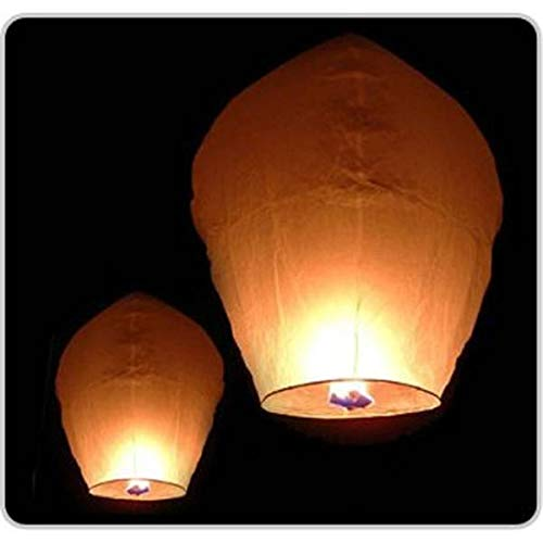 Sky Lanterns Farol Volante Blanca Biodegradable, Color, lanterbia