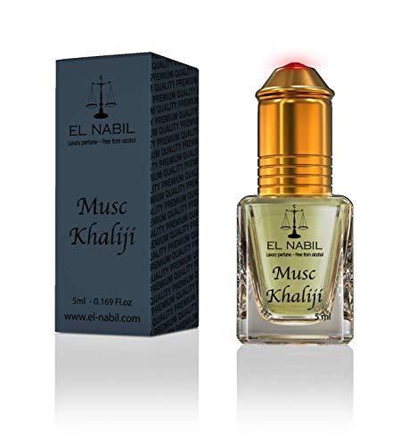 Musc Khaliji 5ml Parfum Duft - El Nabil Misk Musk Moschus Parfümöl für MANN & HERREN - Ätherische Essenzen Natur Perfume Oil Attar Scent