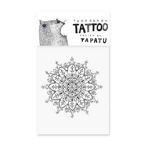 Tijdelijke Tattoo - Sticker vellen voor tatoeëren - kwaliteit Body Sticker in zwart - waterdichte Body Art voor volwassenen en kinderen, Festival, Halloween, Party (MANDALA)