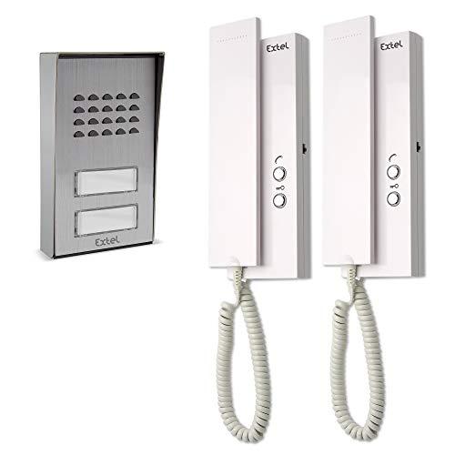 Extel 710016 Multipro Interfono colectivo, 1W, Blanco