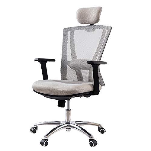 ZQY Bureaustoel, mesh-high back huishouden, verstelbare hoofdsteun, armleuning, taille, ondersteuning, ergonomische V-vormige design-tiilt-functie