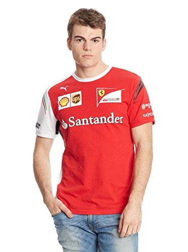 Puma SF Team Ferrari T-Shirt mode Homme Rosso Corsa FR : 56/58 (Taille Fabricant : XL)