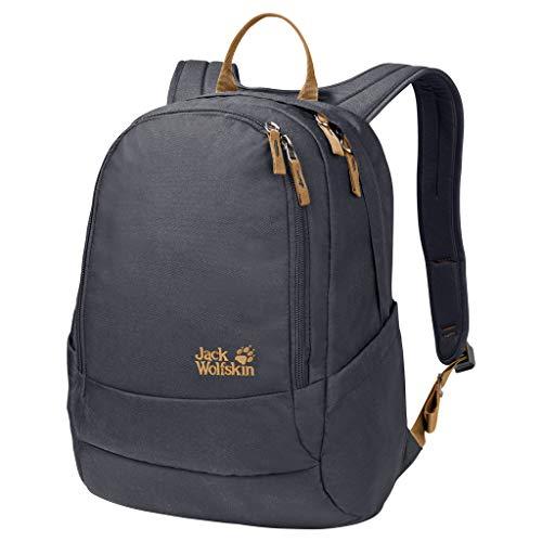 Jack Wolfskin Perfect Day, bequemer Rucksack mit breiten Gurten, DIN-A4-tauglicher Tagesrucksack, Backpack mit guter Lastenverteilung für Alltag und Freizeit, ebony, ONE SIZE