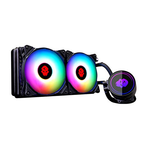 Aceyyk 240mm All in One CPU Liquid Cooler,Addressable RGB High Performance Water Liquid CPU Cooler with Dual Adjustable 240mm PWM Fan The Best Choice for Esports Gamers