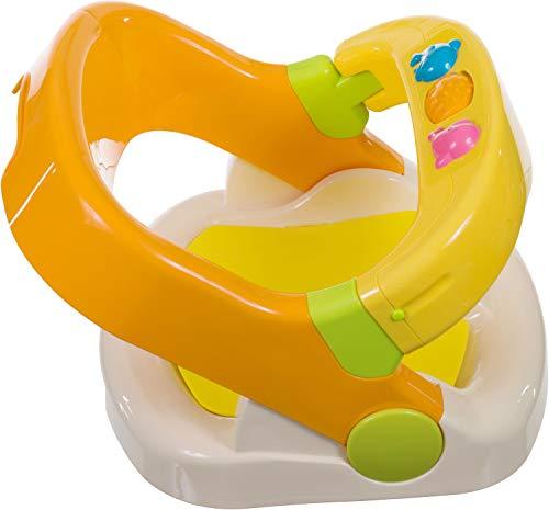 Bieco Badewannensitz mit aufklappbarem Ring ab 6 monaten | Badesitz Baby | Badewannensitz Baby Wanne | Kindersitz Drehbar | Anti Rutsch Badewanne | Baby Badewanne | Badewanne für Dusche | Bath Kinder