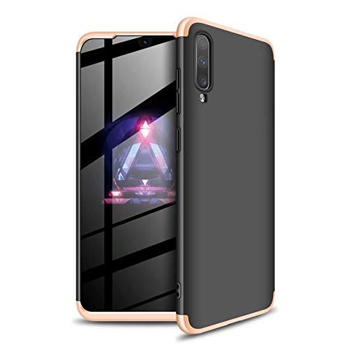 Funda Samsung Galaxy A70 Caja Caso Laixin 3 in 1 Carcasa Todo Incluido Ultra Delgado Anti-Scratch Protectora de teléfono Case Cover para Samsung Galaxy A70 (Oro Negro)