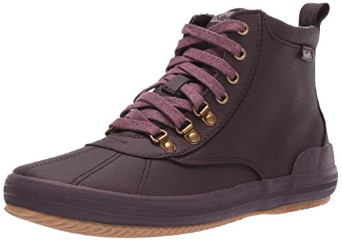 Keds Women's Keds Scout Boot Matte Twill Ankle Boot, Burgundy, 8.5 M US