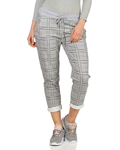 ZARMEXX Damen Sweatpants Baggy Boyfriend Sommerhose Sport All-Over Print One Size Muster 11 One Size (36-40)