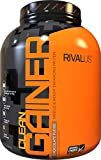 Rivalus Clean Gainer - Chocolate 5 Pound - Delicious Lean Mass Gainer with Premium Dairy Proteins, Complex Carbohydrates, and Quality Lipids, No Banned Substances, Made in USA.
