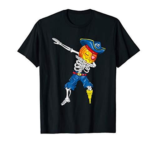Abtupfen Skeleton Pirat Jack O Lantern Kürbis Halloween T-Shirt