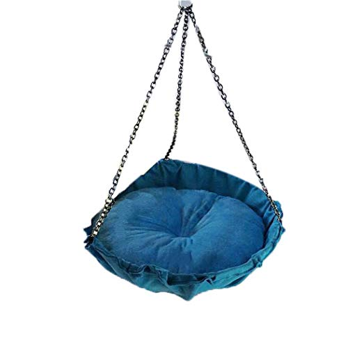 Kemanner Cat Hammock Round Pet Bed Winter Warm Cloth Hanging Basket Creative Cat Nest Arte del Scratchboard