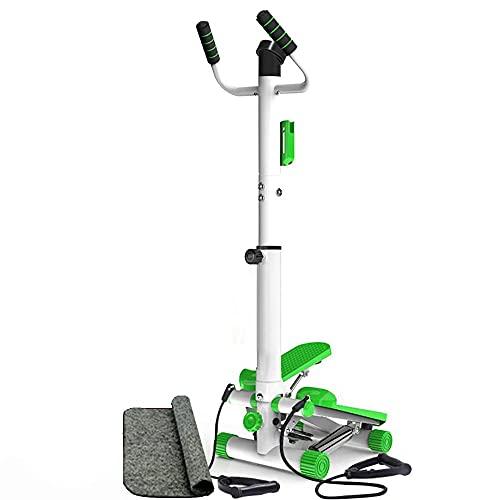 DODOBD Stepper Fitness con Reposabrazos, Stepper Cardio Fitness con Pantalla Multifuncional, Máquina de Step para Hacer Ejercicio de Gluteos y Cardio, hasta 135 KG