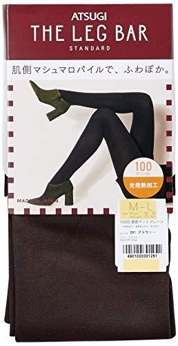 [アツギ] タイツ ATSUGI THE LEG BAR (アツギ ザ レッグバー) 濃密マットプレーンタイツ 100デニール相当 光発熱加工 レディース FP1204 ブラウニー M-L