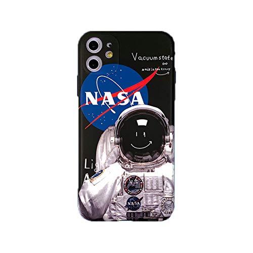 2 Caso De iPhone De La NASA PCS 11 / Pro/MAX Cubierta De Protección contra Caídas Cubierta De Silicona Suave Personalidad Soft Shell para iPhone
