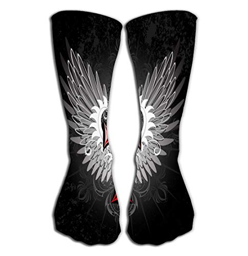 ouyjian Deportes al Aire Libre Hombres Mujeres Calcetines Altos Stocking Red Wings...