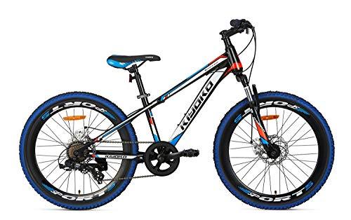 Bicicleta Niño Mountainbike MTB 24 Pulgadas Popal Kiyoko Cambio Shimano Tourney SIS 18 Velocidades 95% Montada Azul
