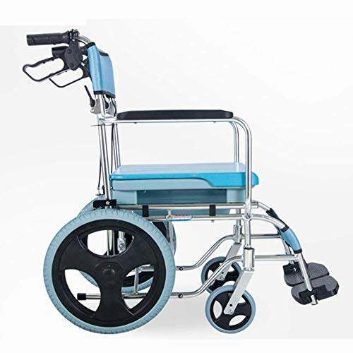 W-SHTAO Medical Rehab Chair, Wheelchair,Lightweight Folding Wheelchair Driving Medical Adult Medical Supplies, Wheelchair with Sitting Multi-Function Elderly Portable Ultra-Light Waterproof Can Take a