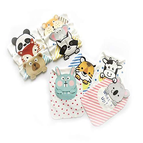 Handdoek met capuchon voor baby's, zweetabsorberende katoenen handdoek voor kinderen, 10 stuks - willekeurige kleurkeuze