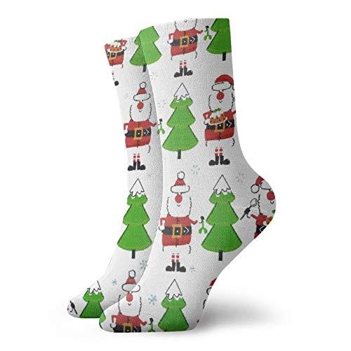 Santa Claus Tree Unisex Classics Socks Sport Athletic Stockings Long Sock Gift Socks
