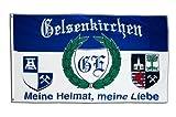 Flagge Fanflagge Gelsenkirchen 5 - Meine Heimat, Meine Liebe - 90 x 150 cm