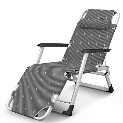 Fauteuils inclinables Chaise pliante Chaise de jardin Pause déjeuner Chaise Chaise Lazy Chair Chaise Easy Chaise longue réglable multifonctions au soleil