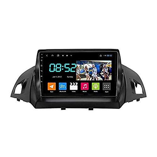 Android 8.1 GPS Navigation Stereo Radio, para Ford Kuga 2013-2017, 9' 1080P Pantalla Táctil Completa Reproductor Multimedia, Enlace Espejo Control Volante Bluetooth Hand-Free