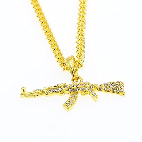 nice cheng Collar Personalizado De Pistola De Ametralladora Ak47 De Hip-Hop Colgante Americana para Hombres K1191