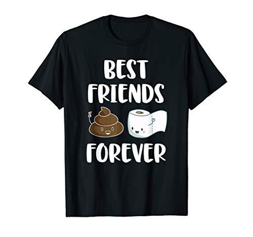 Best Friends Forever Kacke Klopapier Kackhaufen Emoji T-Shirt
