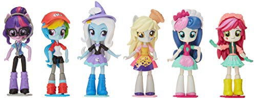 My Little Pony Sweetie Drops, Trixie, Muffins, Roseluck, Twilight Sparkle, and Rainbow Dash - Equestria Girls 4.5-Inch Mini-Dolls ( 6 Pack )
