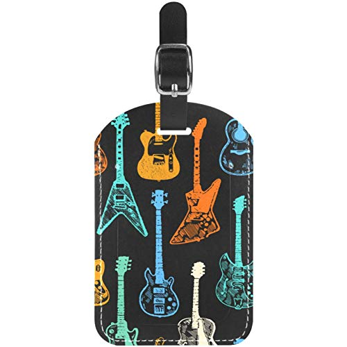 Gepäckanhänger, bunt, für elektrische und akustische Gitarre, Leder, Reise-Koffer, 1 Packung