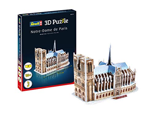 Revell 3D Puzzle 00121 Notre-Dame Cathedral Discover The World in 3D, Craft Fun for Young and Old, Coloured