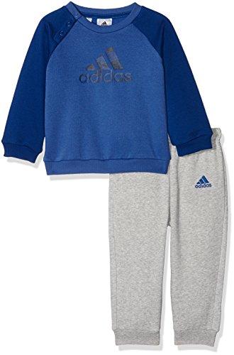 adidas Kinder Logo Jogginganzug Trainingsanzug, Mehrfarbig (blau/dunkelblau/Maruni), 68