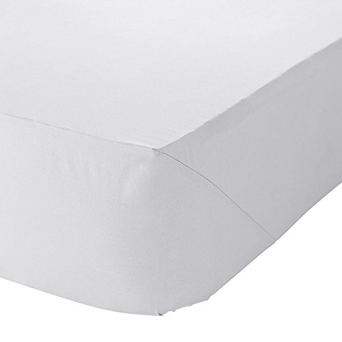 Catherine Lansfield - Drap Housse Percale pour lit Simple, en Polycoton, Infroissable, Blanc, Simple