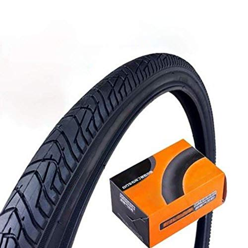 ZXWNB Bicycle Tire 26 Inch1.5 Mountain Bike Tire, Recreational Vehicle Semi-Scalp High-Speed Tire 261.5 TireInner Tube Set,Black,B
