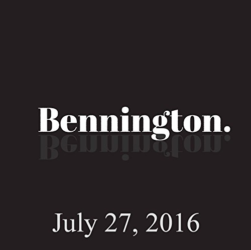 Bennington, Emily Tarver in Studio, July 27, 2016 audiobook cover art