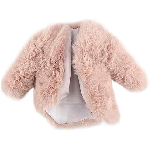 Abrigo de Moda Capa de Peluche Capuchillo Cortes Casual Ropa Traje Accesorios de Juguete para Muñeca Barbie 29cm Pink