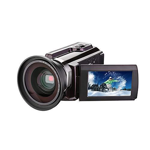 Mhwlai Videocamera Digitale, Videocamera 4K con Obiettivo Grandangolare Obiettivo Grandangolare Esterno Visione Notturna 1080P con Trasmissione A Infrarossi WiFi Natale