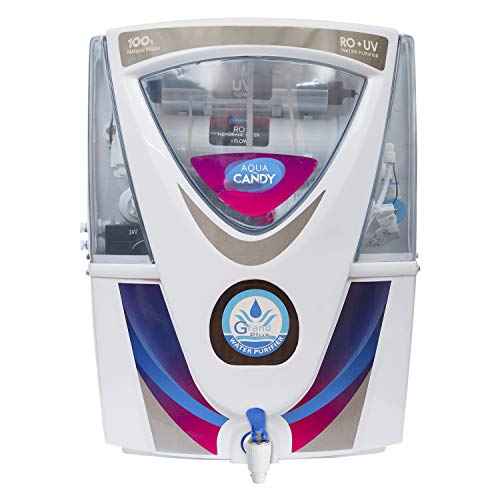 GRAND PLUS Red Candy RO UV UF TDS With mineral 15 ltrs water purifeir BT, Free RO Cover Worth 399/- 6 Month Warranty