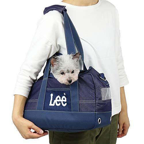 ペットパラダイス Lee デニム風 BOX キャリーバッグ 【超小型犬】 犬 お出かけ ショルダー 飛び出し防止ストラップ付き