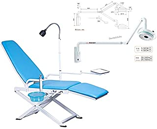 Aries Outlets Portable Folding Chair GU-P109A with 36W Hanging LED Surgical Medical Exam Light Shadowless Lamp