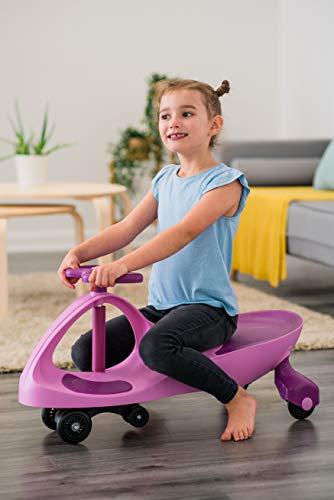 ELITE Costello® HQ SWING Car Ride on Spinning Scooter Niños Adultos Niño Niña Juguete Niña Niña Niña Gyro TWIST & Go Interior Exterior (Pulple & Rosa)