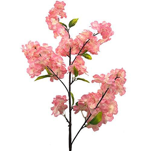 4 Stück künstliche Kirschbaum Zweig Blütenknospe Blume Pfirsich Anordnung hohe künstliche Pflanze 39 Zoll High School Home Hochzeit Blumendekoration