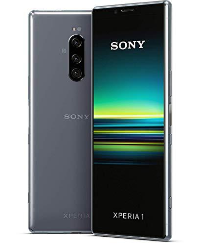 Sony Xperia 1 Smartphone (16,5 cm (6,5 Zoll) OLED Display, Dual-SIM, 128 GB Speicher, 6 GB RAM, Android 9.0) Grau – Deutsche Version