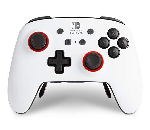 Kabelloser PowerA Controller FUSION Pro für Nintendo Switch - Weiß/Schwarz, Nintendo Switch Lite, Gamepad, Bluetooth, Videospiel-Controller, Gaming-Controller, offiziell lizenziert