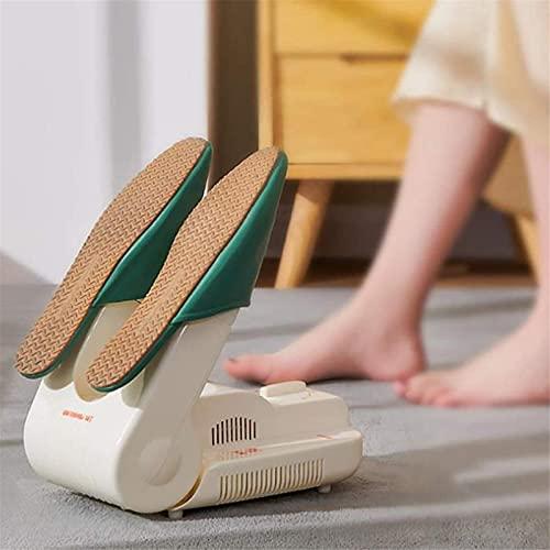 BGSFF Secador de Zapatos eléctrico portátil Secador de Zapatos portátil Plegable, Secador de Botas retráctil, Zapatero, Temporizador Ajustable de 60 Minutos Secado rápido, Desodorizante