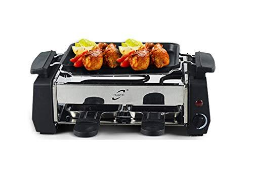 NANXCYR Rookvrije grillpan in Koreaanse stijl met anti-aanbaklaag elektrische grill voor 1 à 2 personen
